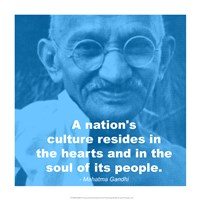 Gandhi - Nations Quote Fine Art Print