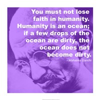 Gandhi - Ocean Quote Fine Art Print