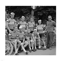 Dutch Team, Tour de France 1960 Fine Art Print