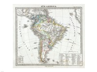 1862 Perthes map of South America Fine Art Print
