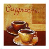 Cappuccino Mugs Framed Print