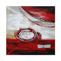 Abstract Circles II - red Fine Art Print