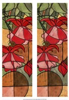 2-Up Stain Glass Floral II Fine Art Print