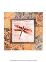 Collaged Dragonflies II Fine Art Print