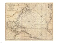 1683 Mortier Map of North America, the West Indies, and the Atlantic Ocean Fine Art Print