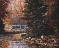 Foot Bridge in the Woods Fine Art Print