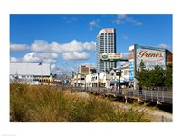 Boardwalk Stores, Atlantic City, New Jersey, USA Fine Art Print
