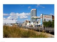 Boardwalk Stores, Atlantic City, New Jersey, USA Fine Art Print