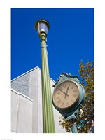 Clock on Atlantic Avenue, Atlantic City, New Jersey, USA Fine Art Print