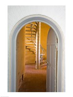 Spiral Stairs in Absecon Lighthouse Museum, Atlantic County, Atlantic City, New Jersey, USA Fine Art Print