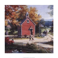 Country Schoolhouse Fine Art Print