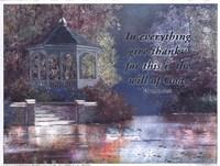 Swans/Gazebo (verse) Fine Art Print