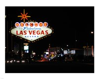 Welcome To Vegas sign Framed Print