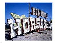 Binion's Horseshoe Casino sign at Neon Boneyard, Las Vegas Framed Print