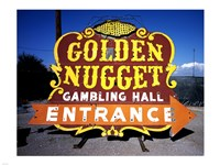 Golden Nugget historic casino sign in the Neon Boneyard, Las Vegas Framed Print