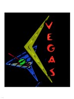 Historic Vegas neon sign, Freemont Street, Las Vegas Framed Print