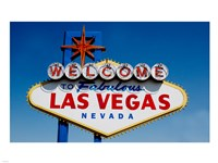 Sign in daytime, Las Vegas, Nevada Fine Art Print