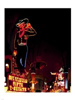Vegas Vic on Freemont Street in Las Vegas Fine Art Print