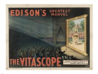 Edisons Vitascope Fine Art Print