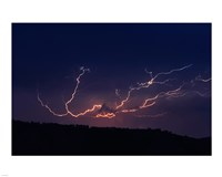 Cloud to cloud lightning strike Fine Art Print