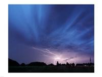 Lightning strike Germany Framed Print