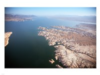 Aerial view, Lake Mead near Las Vegas, Nevada and the Grand Canyon Fine Art Print
