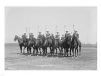 Police Show Polo Team Fine Art Print