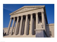 Facade of the U.S. Supreme Court, Washington, D.C., USA Closeup Fine Art Print