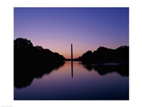 Silhouette of the Washington Monument, Washington, D.C., USA Fine Art Print