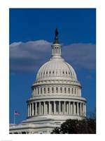 Close-up of the Capitol Building Washington, D.C. Fine Art Print