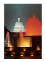 Capitol Building Washington, D.C. (fountains) Fine Art Print
