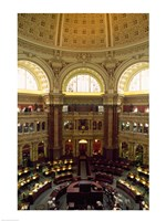 Main Reading Room Library of Congress Washington, D.C. USA Fine Art Print