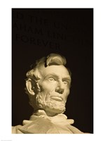 High section view of a statue, Lincoln Memorial, Washington DC, USA Framed Print