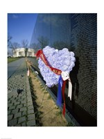 Close-up of a memorial, Vietnam Veterans Memorial Wall, Vietnam Veterans Memorial, Washington DC, USA Fine Art Print