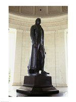 Statue of Thomas Jefferson in a memorial, Jefferson Memorial, Washington DC, USA Fine Art Print