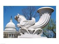 USA, Washington DC, Capitol Building, sculpture Fine Art Print