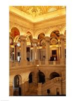 USA, Washington DC, Library of Congress interior Fine Art Print