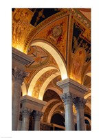 Interiors of a library, Library Of Congress, Washington DC, USA Fine Art Print