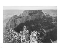 Close-in view of curved cliff, Grand Canyon National Park, Arizona Fine Art Print