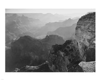 View, looking down, Grand Canyon National Park, Arizona, 1933 Framed Print