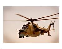 Afghan Air Corps Mi-35 on Kandahar, 2009 Framed Print