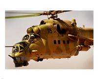 Mi-35 Hind helicopter Fine Art Print