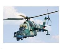 Nigerian Mil Mi-35P Framed Print
