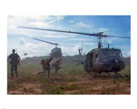 UH-1D helicopters in Vietnam 1966 Framed Print