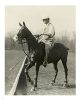 M.J. Waterbury, polo player Fine Art Print