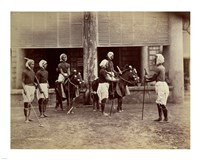 Manipur Polo Players 1875 Framed Print