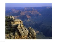 High angle view of rock formation, Grand Canyon National Park, Arizona, USA Framed Print