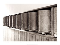 Tibetan Prayer Wheels Fine Art Print