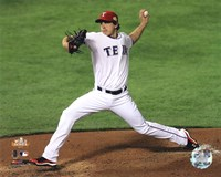 Derek Holland Game 4 of the 2011 MLB World Series Action (#16) Fine Art Print