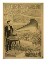 The Edison concert phonograph Have you heard it Framed Print
